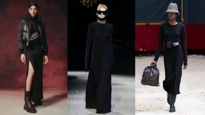 Черное трикотажное платье - базовая осенняя покупка